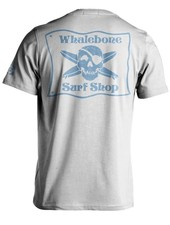 Whalebone Logo WHALEBONE SURF SHOP BLUE FLAG LOGO SHORT SLEEVE TEE