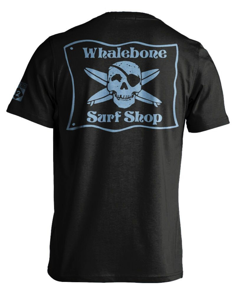 Whalebone Logo WHALEBONE SURF SHOP BLUE FLAG PREMIUM SHORT SLEEVE TEE