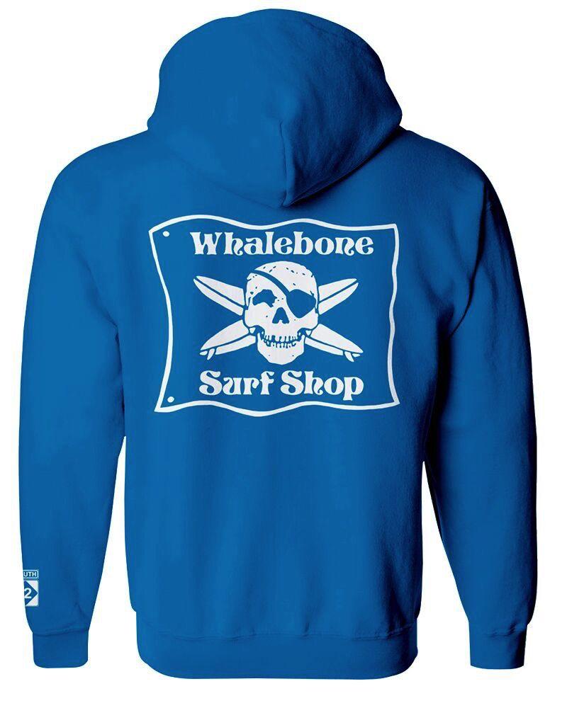 Whalebone Logo *WHALEBONE SURF SHOP PREMIUM PULLOVER HOODIE WITH SOUTH 12 ON CUFF