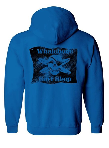 Whalebone Logo BLACK FLAG SANDED PREMIUM PULLOVER HOODIE