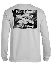 Whalebone Logo BLACK FLAG SANDED LONG SLEEVE TEE