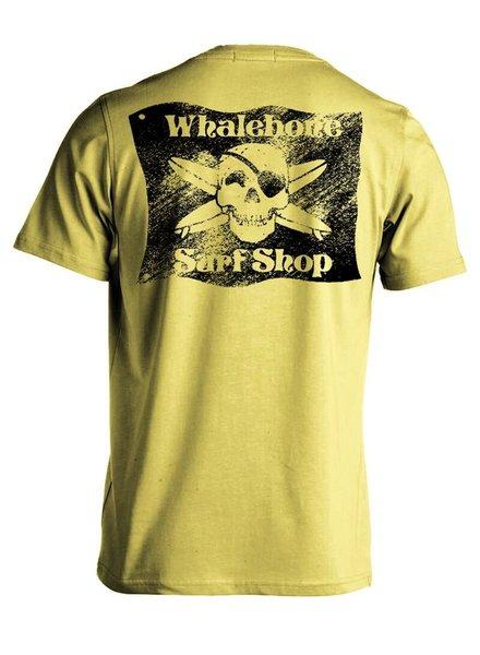 Whalebone Logo BLACK FLAG SANDED LOGO PREMIUM SHORT SLEEVE TEE