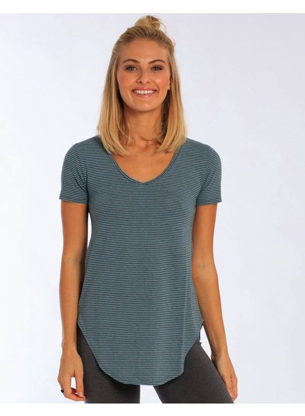 Whalebone Logo WOMENS WHALEBONE LOGO STRIPED V-NECK TUNIC