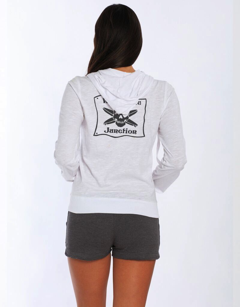 Whalebone Logo WOMENS JUNCTION LOGO LIGHT ZIP UP HOODIE