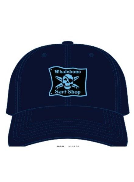 Whalebone Logo LOGO HAT - ORIGINAL LIGHT BLUE PATCH ADJUSTABLE CHINO HAT WITH METAL COMFORT BUCKLE