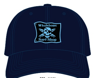 Whalebone Logo LOGO HAT - ORIGINAL LIGHT BLUE PATCH ADJUSTABLE CHINO HAT WITH METAL COMFORT BUCKLE