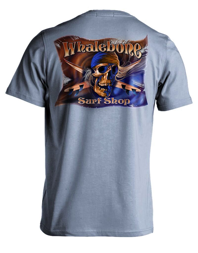 Whalebone Logo MENS GREY GHOST COLOR SHORT SLEEVE TEE