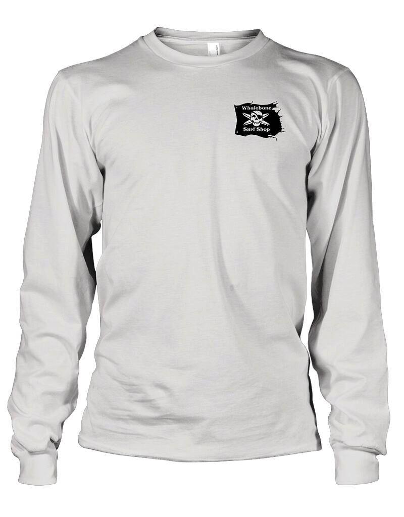 Whalebone Logo GREY GHOST COLOR LONG SLEEVE TEE