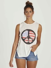 Billabong BILLABONG WOMENS PEACE&LOVE MUSCLE TANK