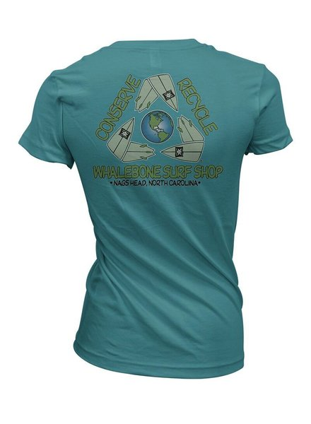 Whalebone Logo CONSERVE+RECYCLE WOMENS WHALEBONE ECONSCIOUS SHORT SLEEVE TEE