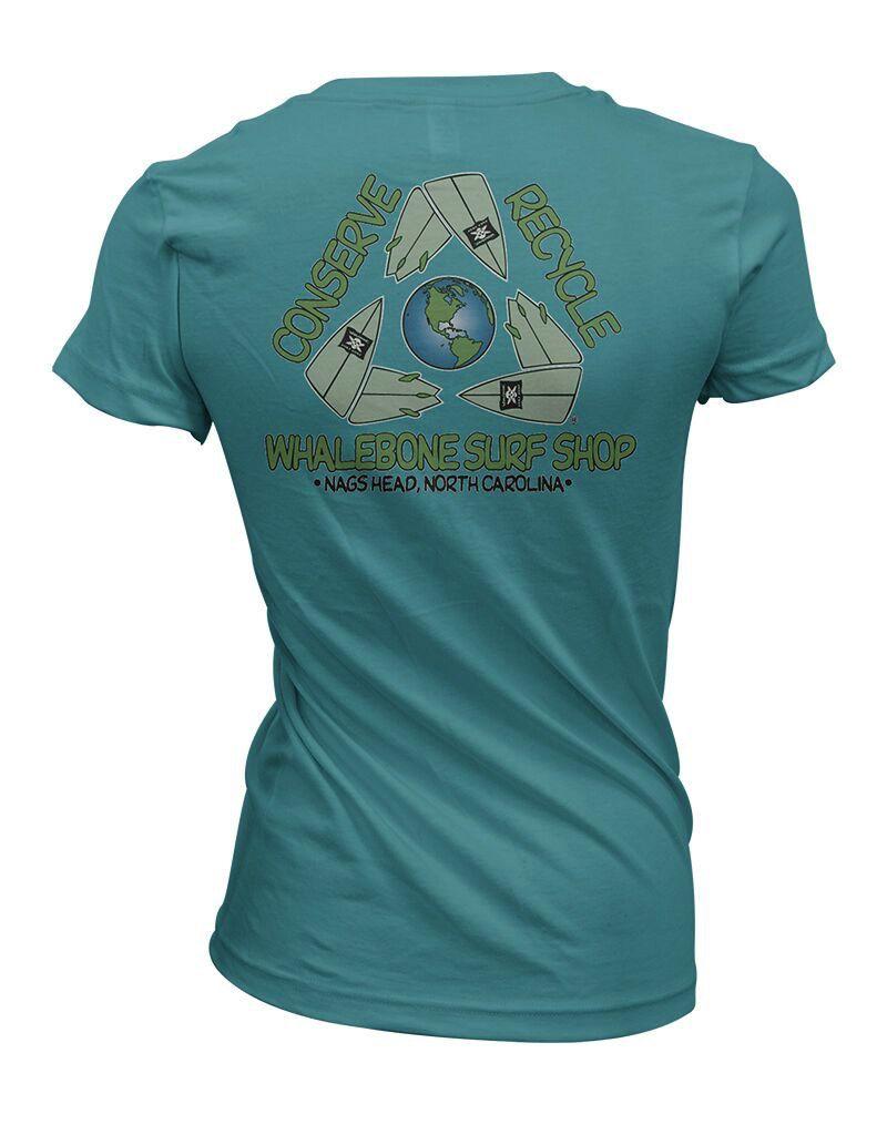 Whalebone Logo CONSERVE+RECYCLE WOMENS WHALEBONE ECONSCIOUS SHORT SLEEVE TEE