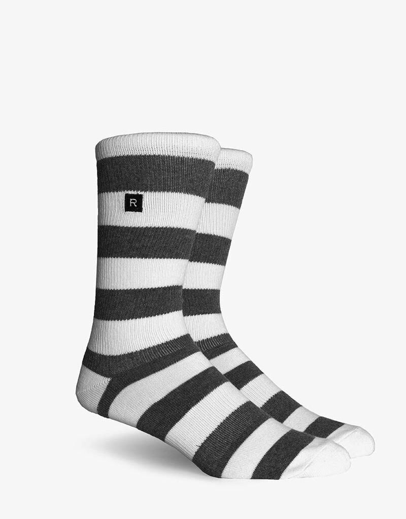 Richer Poorer RICHER POORER WALK ON BASIC ATHLETIC CHARCOAL&WHITE COMPRESSION SOCK