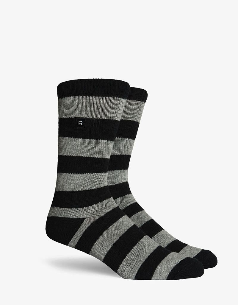 Richer Poorer RICHER POORER WALK ON BASIC ATHLETIC HEATHER GREY&BLACK COMPRESSION SOCK