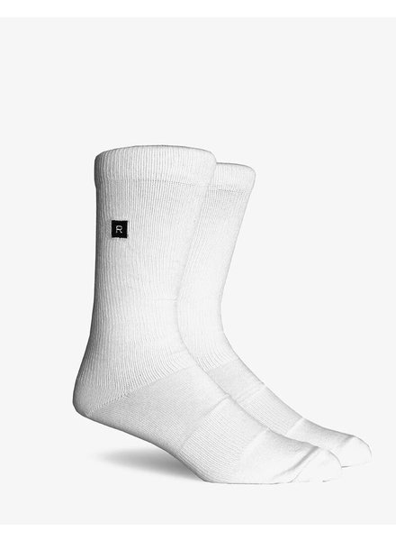Richer Poorer RICHER POORER BASE BASIC ATHLETIC WHITE COMPRESSION SOCK