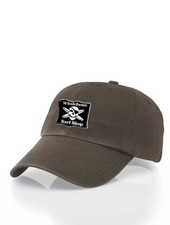 Whalebone Logo LOGO HAT - ORIGINAL BLACK PATCH ADJUSTABLE CHINO HAT WITH METAL COMFORT BUCKLE