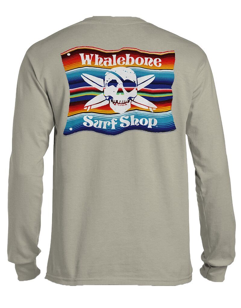 Whalebone Logo MEXICAN BLANKET LONG SLEEVE TEE