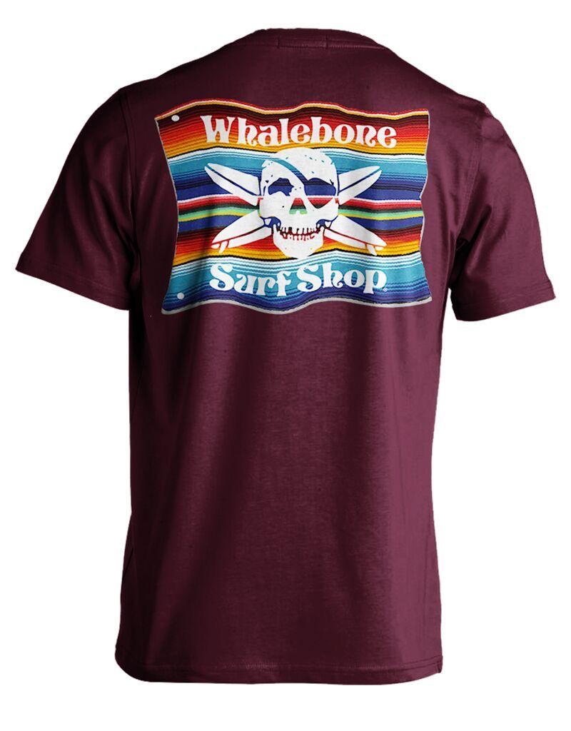 Whalebone Logo MEXICAN BLANKET PREMIUM SHORT SLEEVE TEE