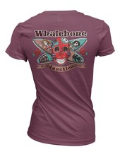 Whalebone Logo WOMENS DAY OF THE DEAD BOYFRIEND FIT SHORT SLEEVE TEE