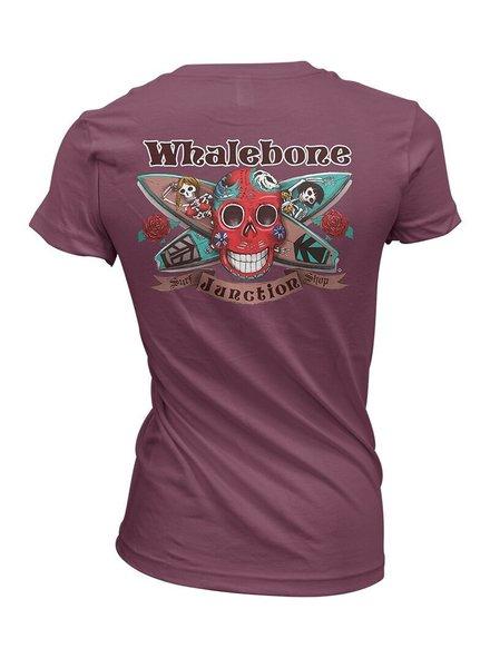 Whalebone Logo WOMENS DAY OF THE DEAD BOYFRIEND FIT SHORT SLEEVE TEE