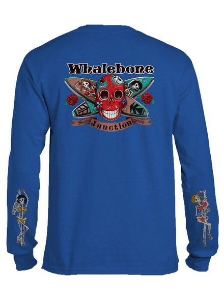 Whalebone Logo DAY OF THE DEAD LONG SLEEVE TEE WITH SLEEVE PRINT