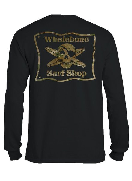 Whalebone Logo MULTICAM LONG SLEEVE TEE WITH SLEEVE PRINT