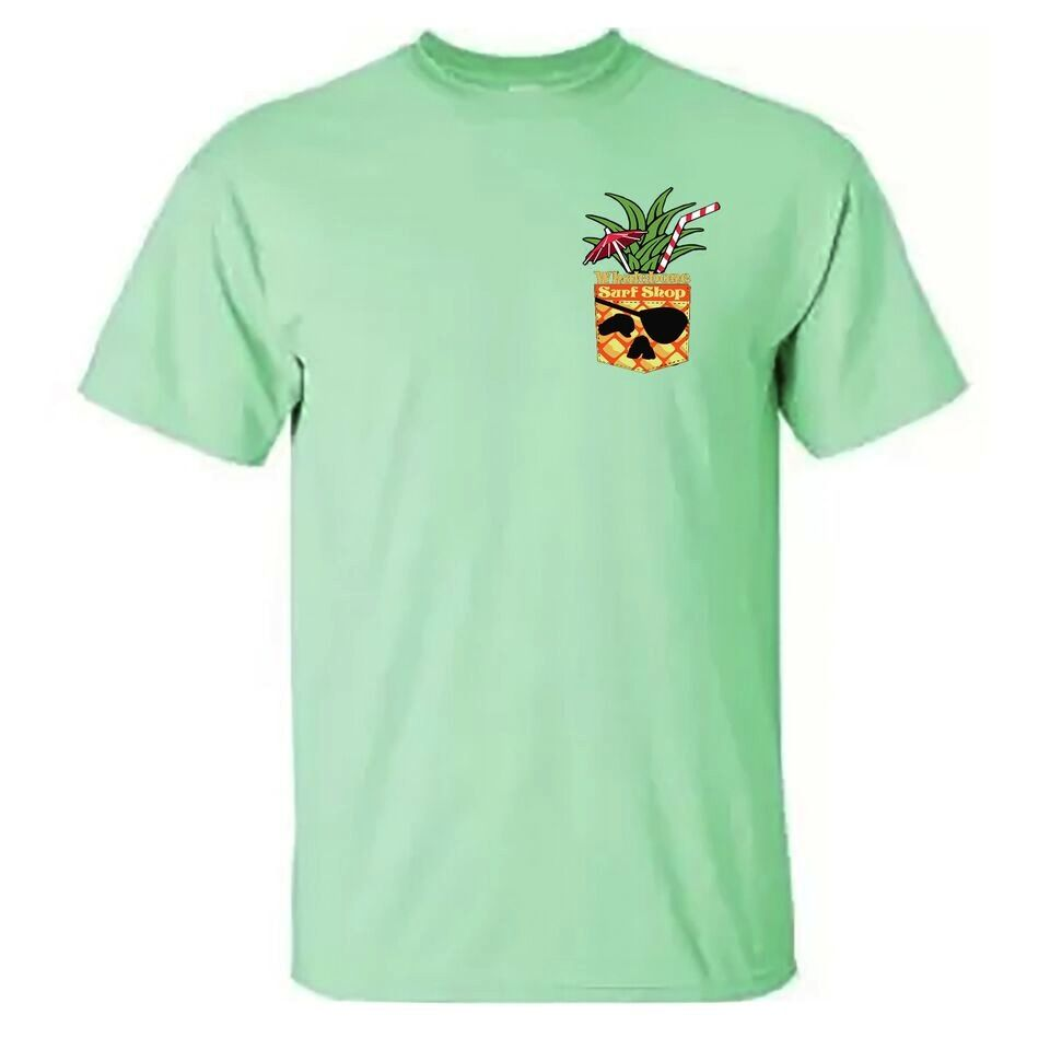 Whalebone Logo PINEAPPLE POCKET SHORT SLEEVE TEE