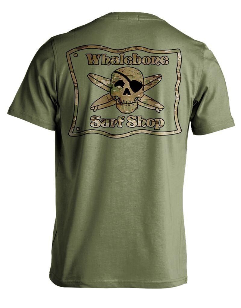 Whalebone Logo MULTICAM PREMIUM BLEND SHORT SLEEVE TEE
