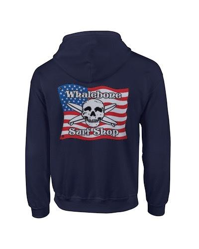 Whalebone Logo AMERICAN FLAG PULLOVER HOODIE