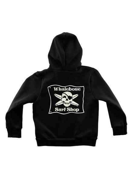 Whalebone Logo LITTLE KIDS WHALEBONE SURF SHOP GLOW ZIP HOODIE