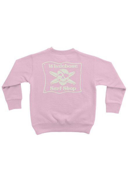 Whalebone Logo LITTLE KIDS WHALEBONE SURF SHOP GLOW CREW FLEECE
