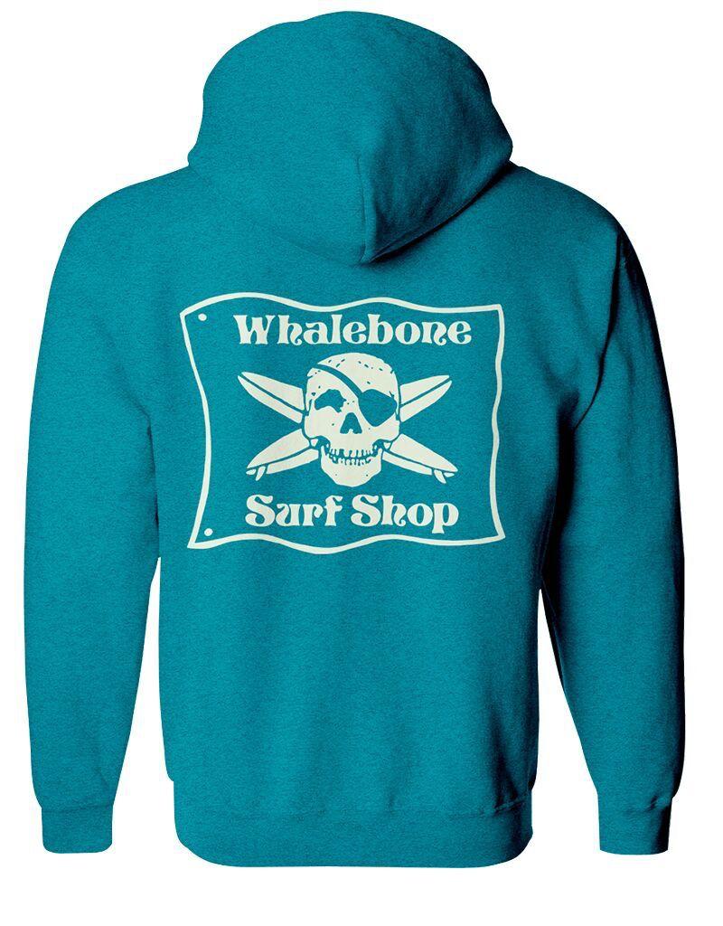 Whalebone Logo *WHALEBONE SURF SHOP GLOW PCH BLEND PULLOVER HOODIE