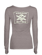 Whalebone Logo WOMENS WHALEBONE SURF SHOP GLOW LONG SLEEVE ALTERNATIVE TEE