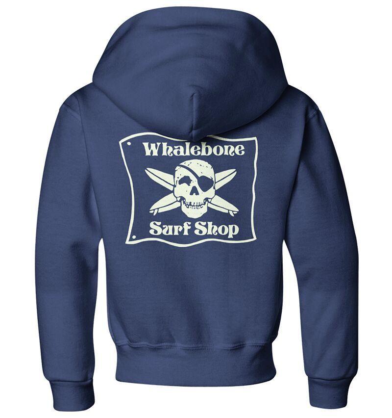 Whalebone Logo KIDS WHALEBONE SURF SHOP GLOW ZIP HOODIE