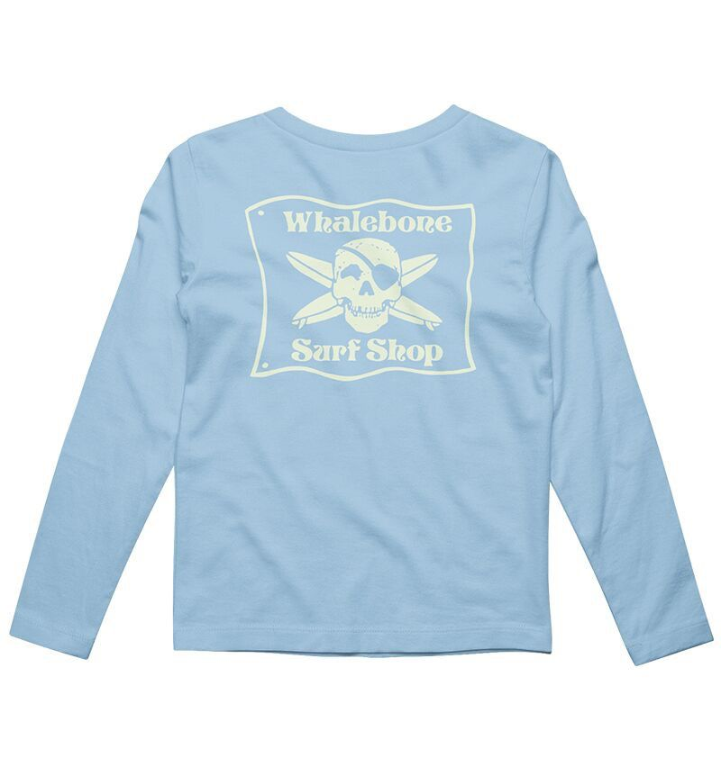 Whalebone Logo KIDS WHALEBONE SURF SHOP GLOW LONG SLEEVE TEE
