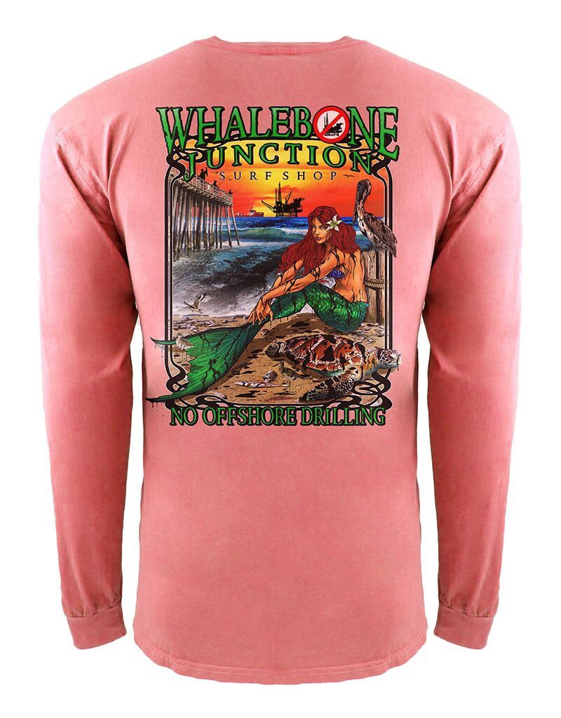 Whalebone Logo OILY MERMAID-NO DRILLING INSPIRED DYE LONG SLEEVE TEE