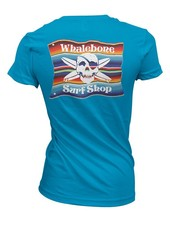 Whalebone Logo WOMENS MEXICAN BLANKET BOYFRIEND FIT SHORT SLEEVE TEE