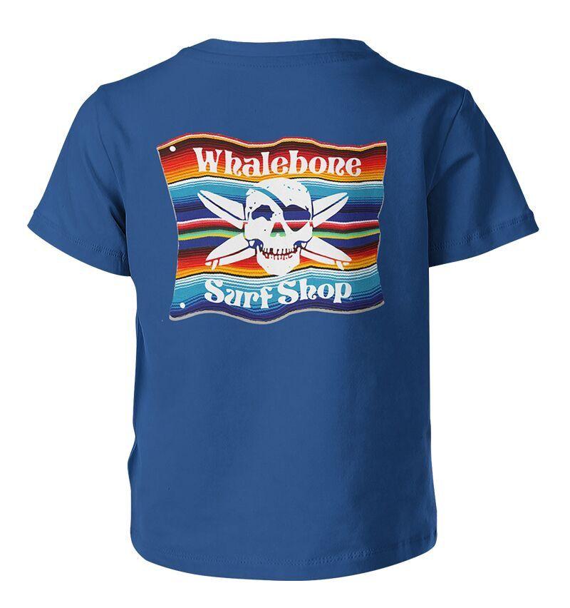 Whalebone Logo KIDS MEXICAN BLANKET PREMIUM SHORT SLEEVE TEE