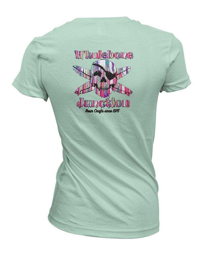 Whalebone Logo WOMENS RESIN DRIP BOYFRIEND FIT SHORT SLEEVE TEE