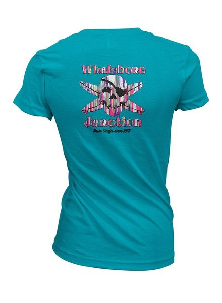 Whalebone Logo WOMENS RESIN DRIP PREMIUM BLEND SHORT SLEEVE TEE