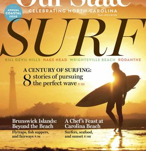 Whalebone Owner Jim Vaughn featured in The Surfing Issue of Our State Magazine