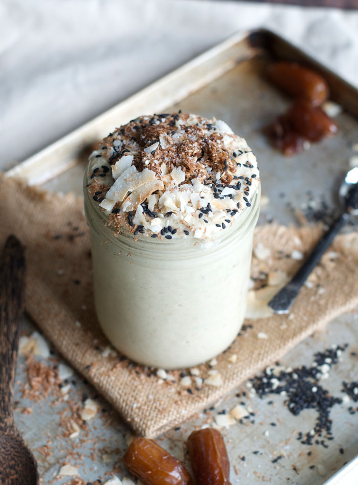 Salted Tahini Maca Smoothie Recipe