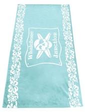 Whalebone Logo WHALEBONE JUNCTION FLORAL BAND WOVEN TOWEL 34X60