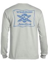 Whalebone Logo WHALEBONE JUNCTION BLUE FLAG LOGO LONG SLEEVE TEE