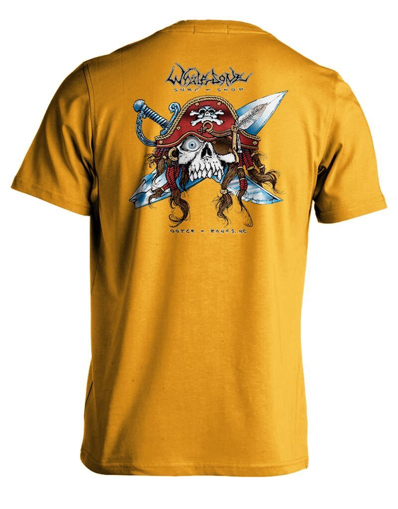 Whalebone Logo GNARLY PIRATE PREMIUM SHORT SLEEVE TEE