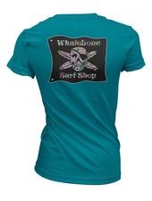Whalebone Logo WOMENS SUGAR SKULL PREMIUM BLEND SHORT SLEEVE TEE