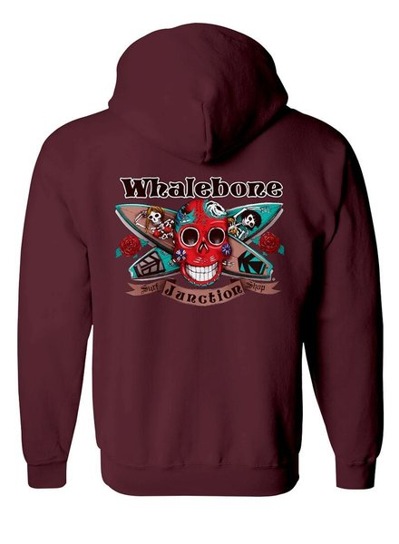 Whalebone Logo DAY OF THE DEAD PULLOVER HOODIE WITH SLEEVE PRINTS