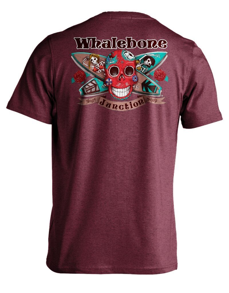 Whalebone Logo DAY OF THE DEAD PREMIUM SUEDED SHORT SLEEVE TEE