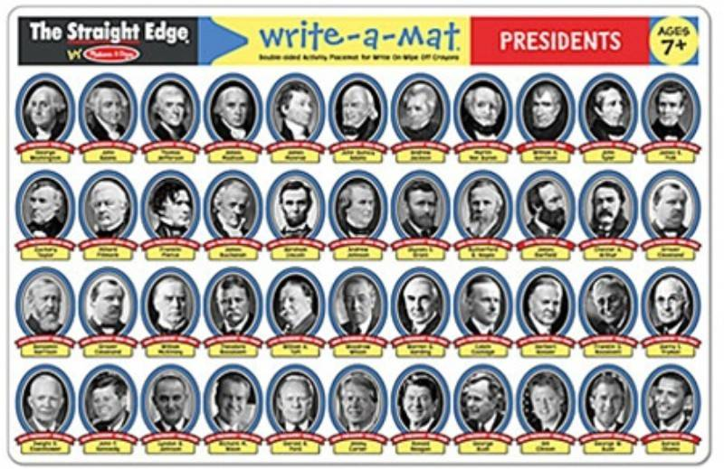 Melissa & Doug Write-A-Mat Presidents