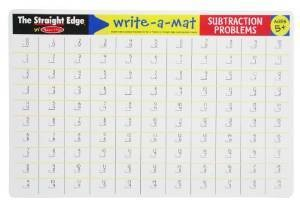 Melissa & Doug Write-A-Mat Subtraction Problems