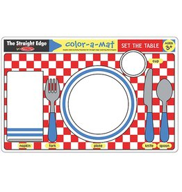 Melissa & Doug Color-A-Mat Set The Table